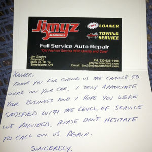 personal thank-you note to build customer loyalty